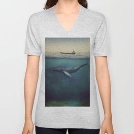 Old Sea and the Man Unisex V-Neck