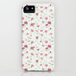 Sweet Carnations (light edition) iPhone Case