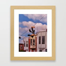 shoes up there Framed Art Print