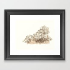 Untitled (Cloudy) Framed Art Print