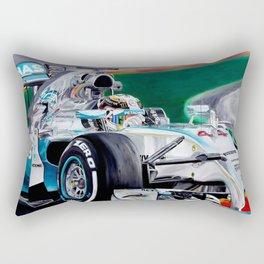 """Lewis Hamilton """"Focus On Lewis"""" Rectangular Pillow"""