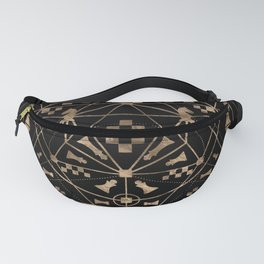 Sacred Geometry Ornament with Chess Pieces Fanny Pack