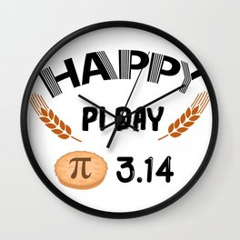 Happy Pi Day Funny Math Symbol Humor Wall Clock