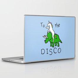 To The Disco (Unicorn Riding Triceratops) Laptop & iPad Skin