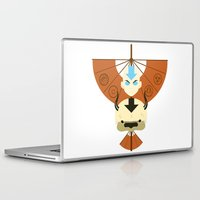 aang Laptop & iPad Skins featuring Yip Yip by Ashley Hay