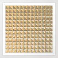 pyramid Art Prints featuring pyramid by Ioana Luscov