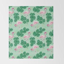 Flamingo Friends Throw Blanket