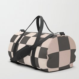 rose gold and black checkers Duffle Bag
