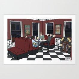 Nino's on a Friday Night Art Print