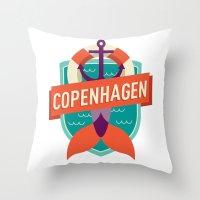 copenhagen Throw Pillows featuring Copenhagen by Fedi