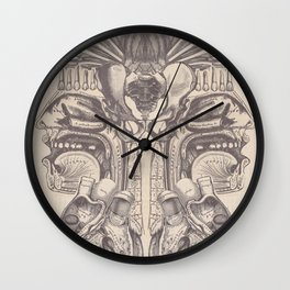Anatomy Collage 7 Wall Clock