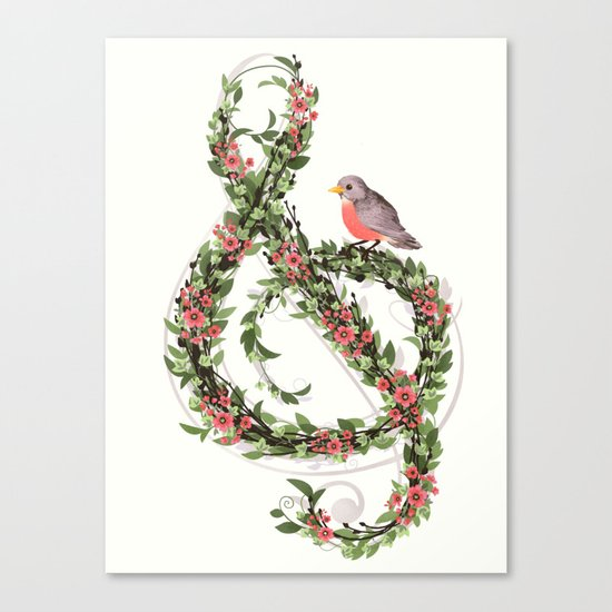 Robin's Song Canvas Print