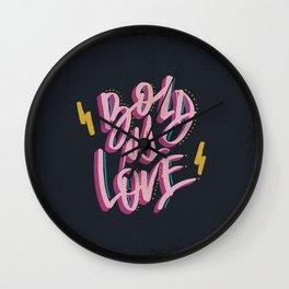 Bold As Love Wall Clock