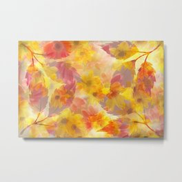 Changing Seasons Abstract Metal Print