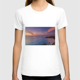 jacks bay sunset colorful panorama scene T-shirt