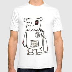 robo bear White Mens Fitted Tee MEDIUM