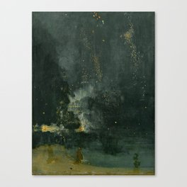 James Abbott McNeill Whistler Nocturne In Black And Gold Canvas Print