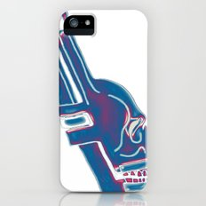 Neon Pipe Wrench Skull Slim Case iPhone (5, 5s)