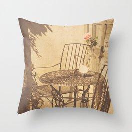 Parisian Chic Throw Pillow