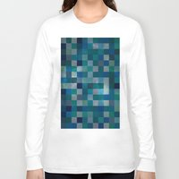 blues Long Sleeve T-shirts featuring Blues by Mila Harper
