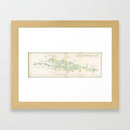 Vintage Map of Lake Champlain (1739) Framed Art Print