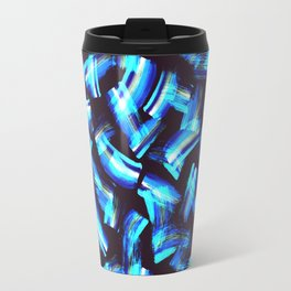 Acrilyc blue  brush strokes Travel Mug