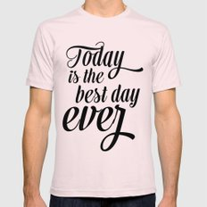Best day ever Mens Fitted Tee Light Pink SMALL