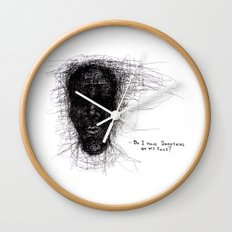 Scribble Face Wall Clock
