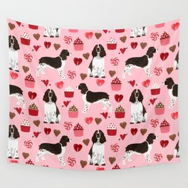 English Springer Spaniel love hearts valentines day gifts for dog person pet friendly pet portrait Wall Tapestry