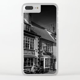 Cobbled Cafe Clear iPhone Case