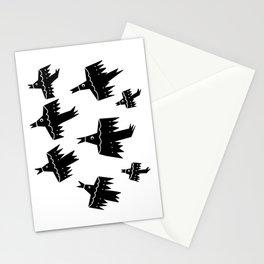 Folk Art Birds in Flight Stationery Cards