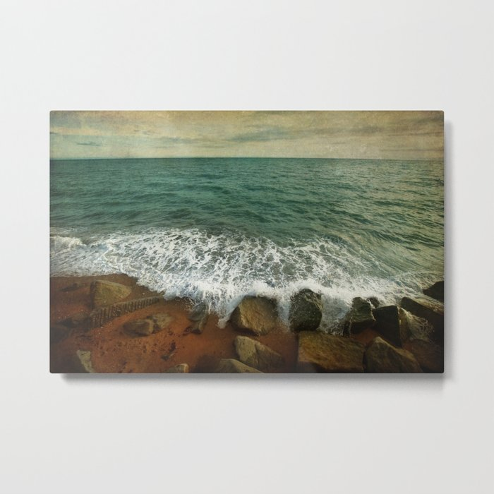 Beside the Sea IV Metal Print