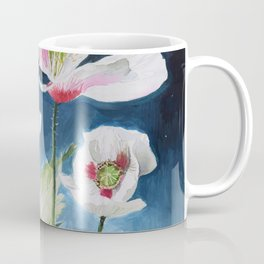 Papaver Somniferum and Amethyst Crystal on a Stary Night at Dawn Coffee Mug