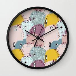 Four wheels Pink #homedecor Wall Clock