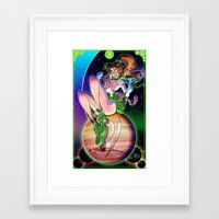 sailor jupiter Framed Art Prints featuring Sailor Jupiter by Bryan Lobdell