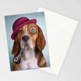 Drawing Dog Beagle Stationery Cards