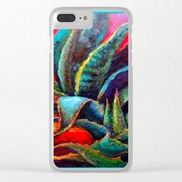 WESTERN DESERT BLUE AGAVE Clear iPhone Case
