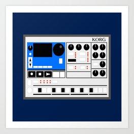 Retro Drum Machine Korg Electribe Sequencer Art Print