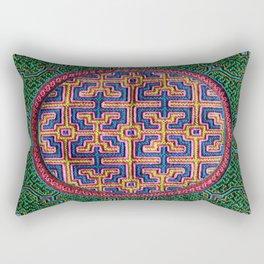Song for Creativity - Traditional Shipibo Art - Indigenous Ayahuasca Patterns Rectangular Pillow