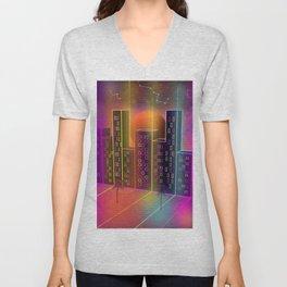 Neon City Unisex V-Neck