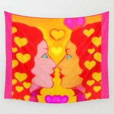 Forms Of Love Female Wall Tapestry
