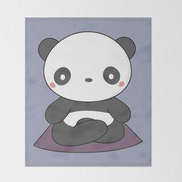 Kawaii Cute Yoga Panda Throw Blanket