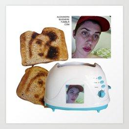 Selfie Toast Art Print
