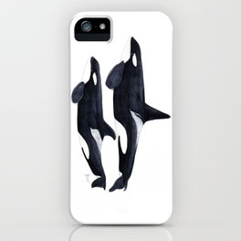 Orca male and female iPhone Case