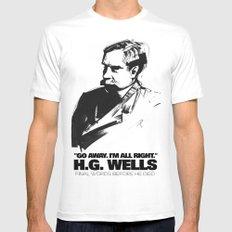 H.G. Wells last words White Mens Fitted Tee MEDIUM