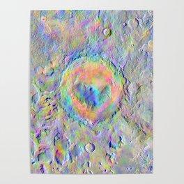 Iridescent Rainbow Moon Surface Poster
