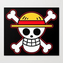 Straw hat Flag Canvas Print