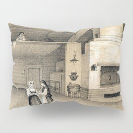 Peasant's House with an Oven Pillow Sham