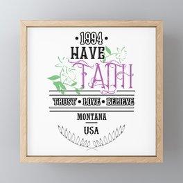 Have Faith Framed Mini Art Print