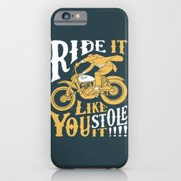 stole it iPhone Case